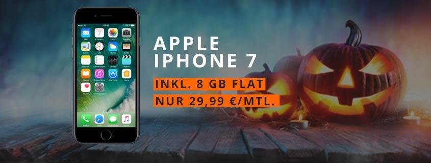 iPhone 7 + otelo Allnet-Flat XL (Allnet-/SMS-Flat + 8 GB Internet) für 29,99 €/mtl. – effektiv nur 8,74 €