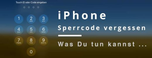 iPhone Sperrcode vergessen