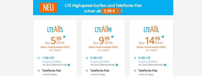 sim.de LTE All Handytarife im Check
