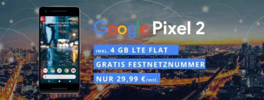 Google Pixel 2 + o2 Blue All-In-M