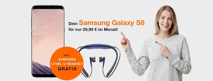 Samsung Galaxy S8 + otelo Allnet-Flat Max (Allnet-, SMS Flat + 6 GB)