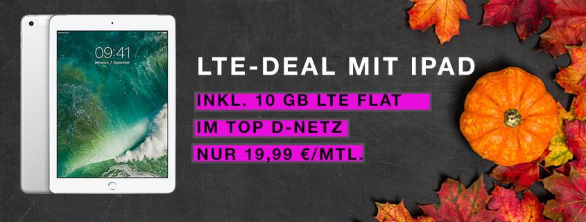BLACK FRIDAY 2017: iPad Wi-Fi + Cellular 32 GB + 10 GB Telekom LTE Flat für 19,99 €/mtl.