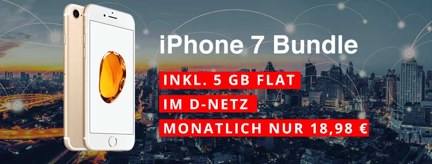 iPhone 7 32 GB + otelo Fan-Tarif (5 GB) für effektiv 9,40 €/mtl.