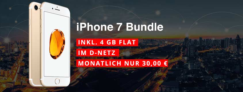 iPhone 7 + congstar Allnet Flat Plus (4 GB)