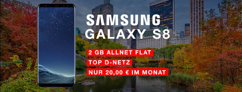 Samsung Galaxy S8 + congstar Allnet Flat für 20 Euro