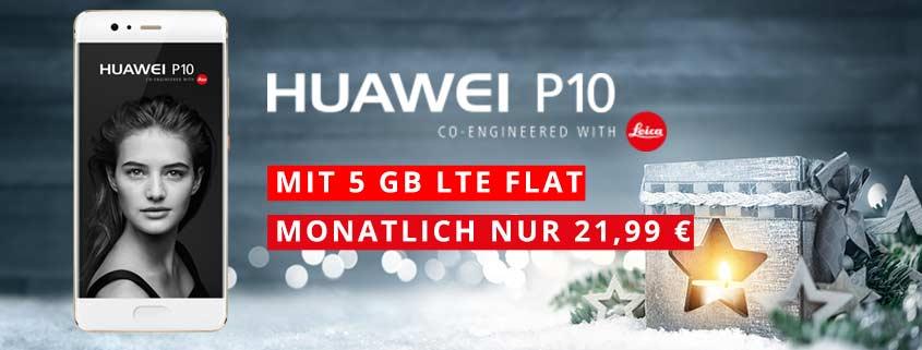 Huawei P10 + smartmobil LTE Pro (5 GB LTE) für 21,99 €/mtl.
