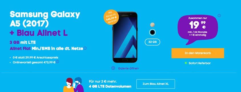 Samsung Galaxy A5 (2017) + Blau Allnet L
