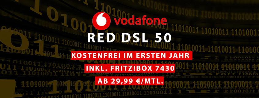 Vodafone RED DSL 50 im ersten Jahr GRATIS – effektiv nur 13,40 €/mtl.