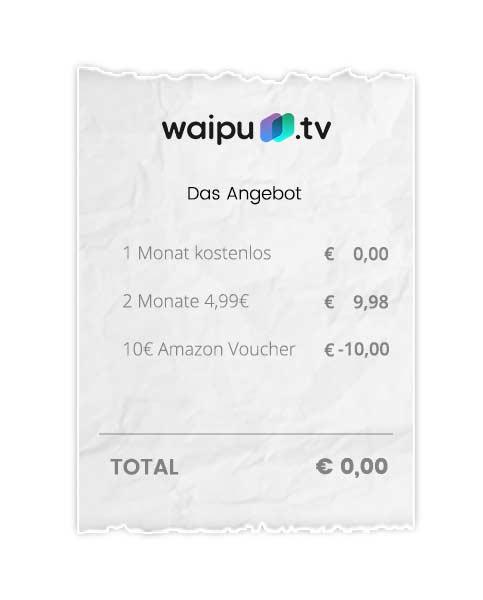 Waipu Tv Amazon Gutschein