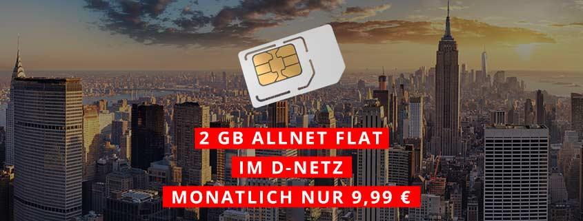 klarmobil Allnet Flat mit 2 GB Internet Flat (Vodafone-Netz) für 9,99 Euro