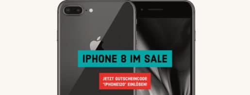 iPhone 8 mit 120 € Gutscheincode