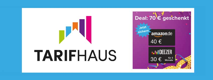 Tarifhaus Weekend-Deal: 3 GB LTE Allnet Flat + 40€ Amazon-Gutschein
