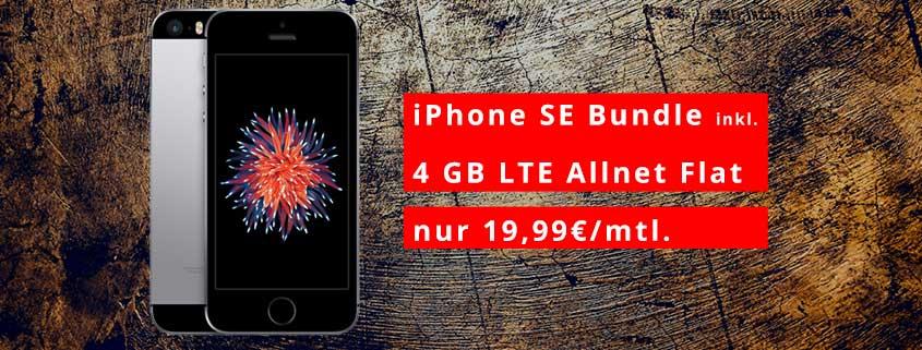 deinhandy.de: iPhone SE + Blau Allnet XL (Allnet/SMS-Flat, 4 GB LTE) für effektiv 7,26€/mtl.