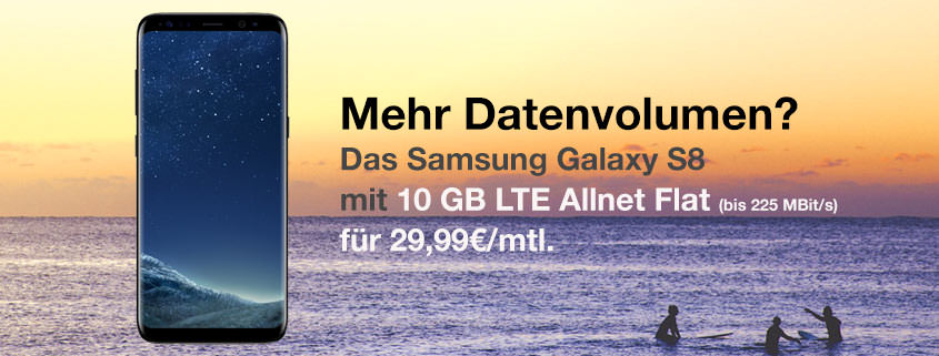 Galaxy S8 + 10 GB LTE Flat