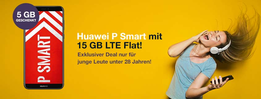 Huawei P Smart Bundle mit 15 GB LTE