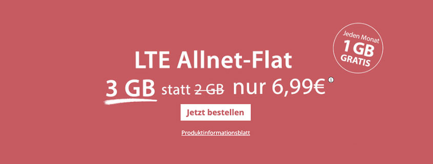 PremiumSIM 3 GB LTE Flat