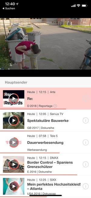 Online-TV auf dem Smartphone