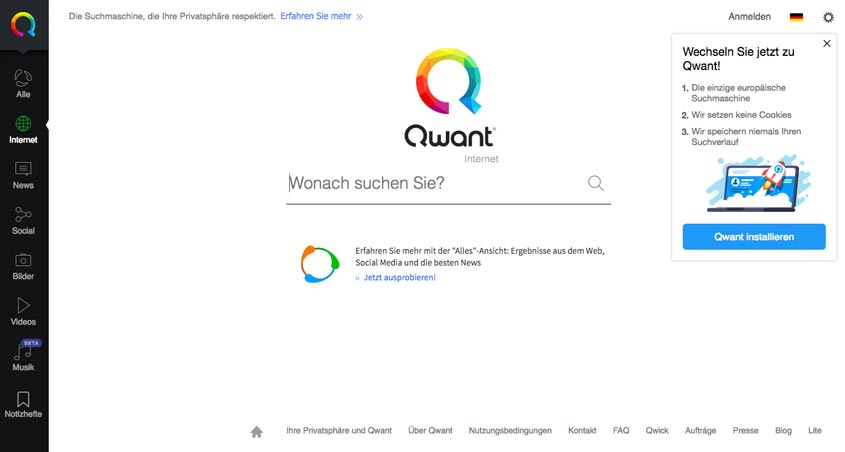 Qwant Suchmaschine