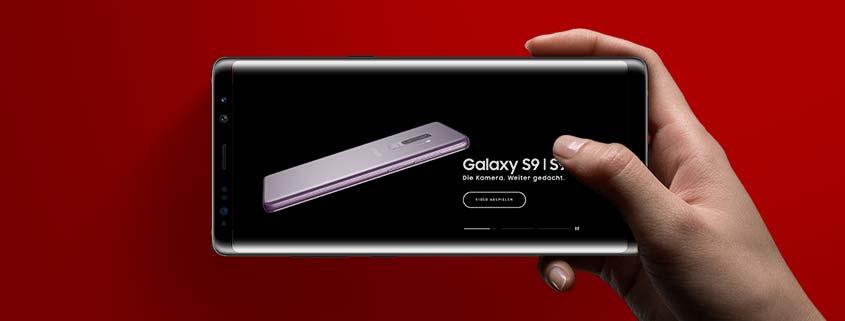 Samsung Galaxy S9 / S9+ mit 8 GB Allnet Flat für 36,99 €/mtl.