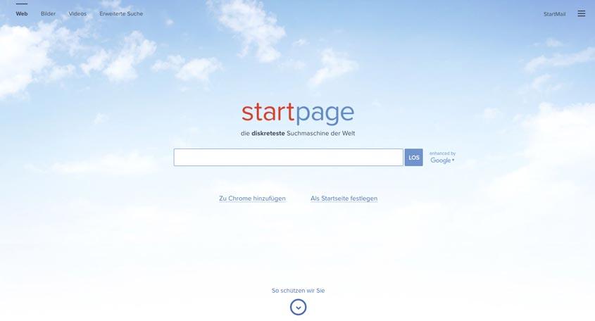 Startpage Suchmaschine