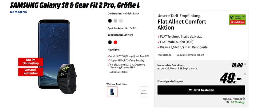 Samsung Galaxy S8 + Gear Fit 2 Pro