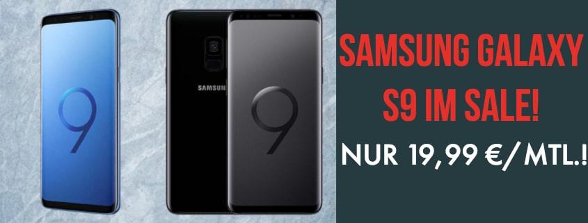 Samsung Galaxy S9 ab 19,99 €/mtl. – auch mit Gear S3 Smartwatch oder Xbox One S