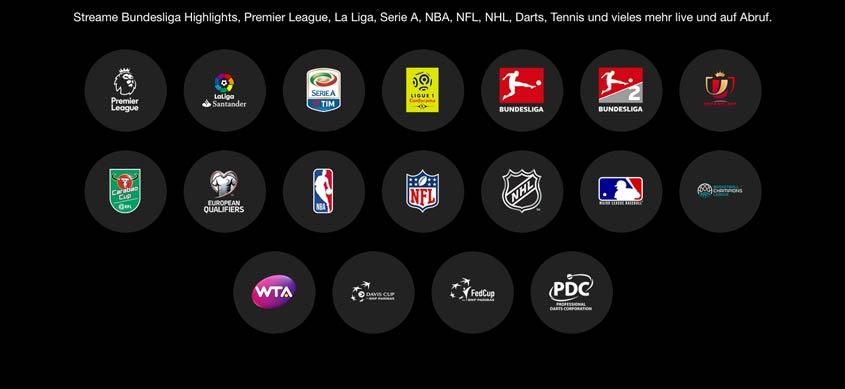 DAZN: Sportarten & Turniere im Überblick