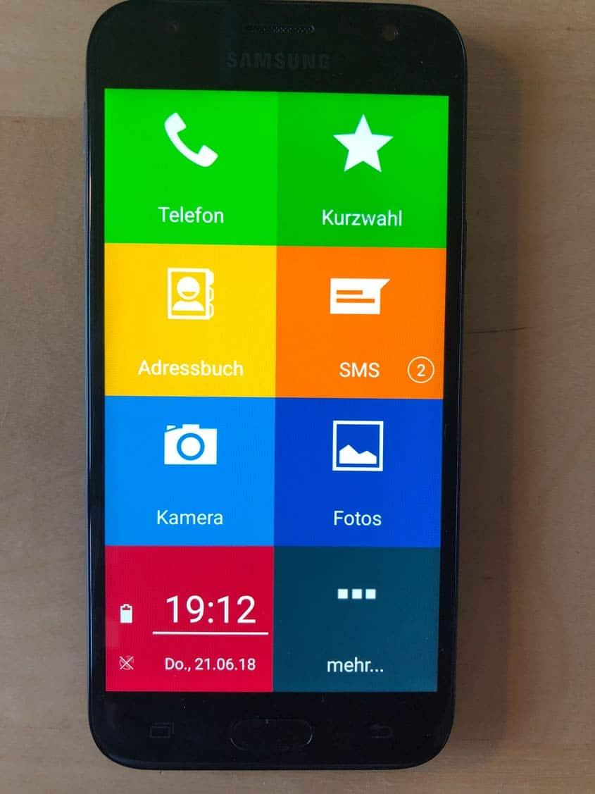 EinfachFon - Startbildschirm