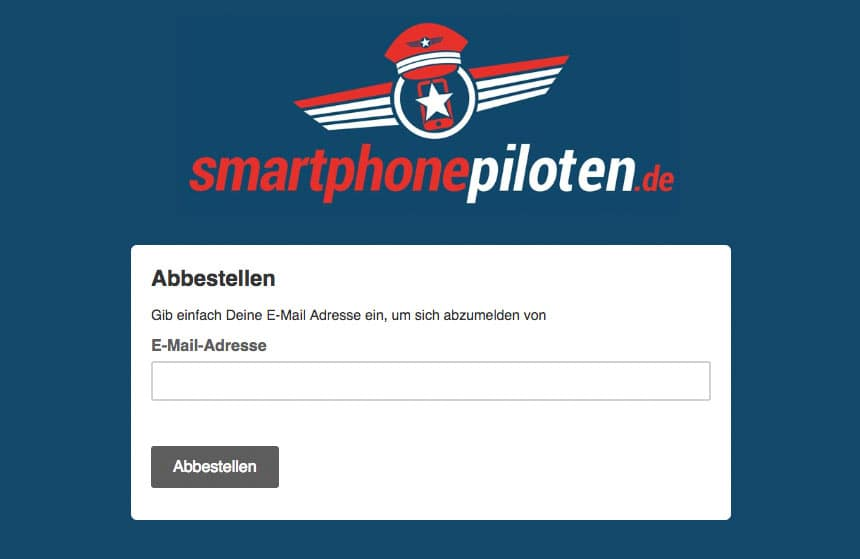 smartphonepiloten Newsletter abbestellen