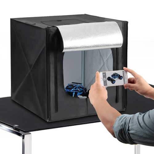 Beleuchtete Fotobox für das Smartphone