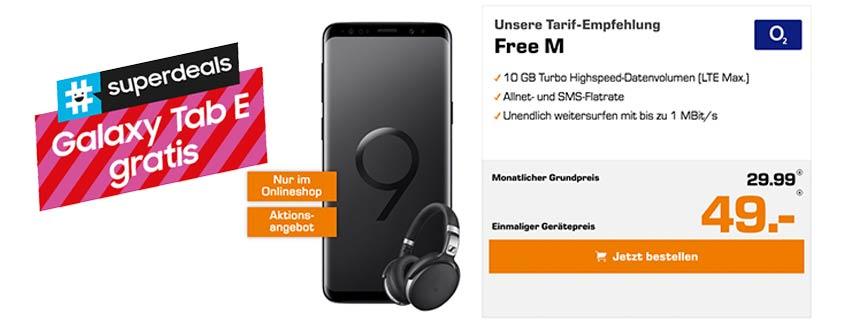 Samsung Galaxy S9 + o2 Free M (10 GB) + Sennheiser HD 4 für 29,99 €/mtl.
