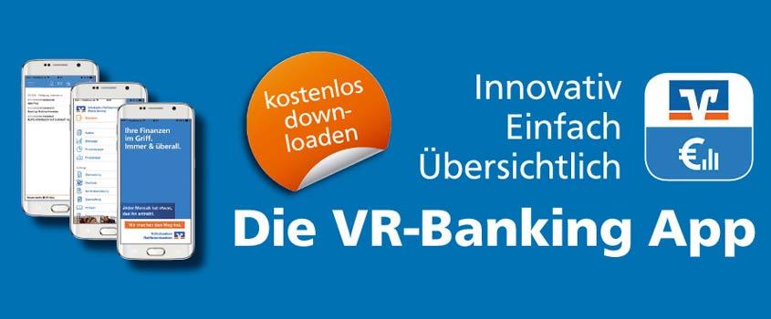 Mobil bezahlen mit der VR Banking App