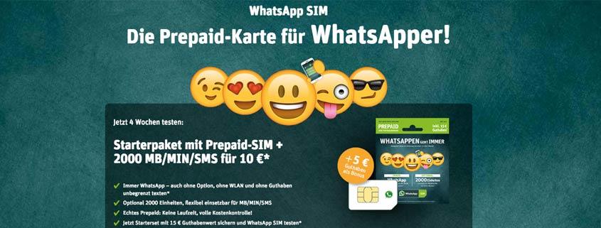 WhatsApp SIM Handytarife