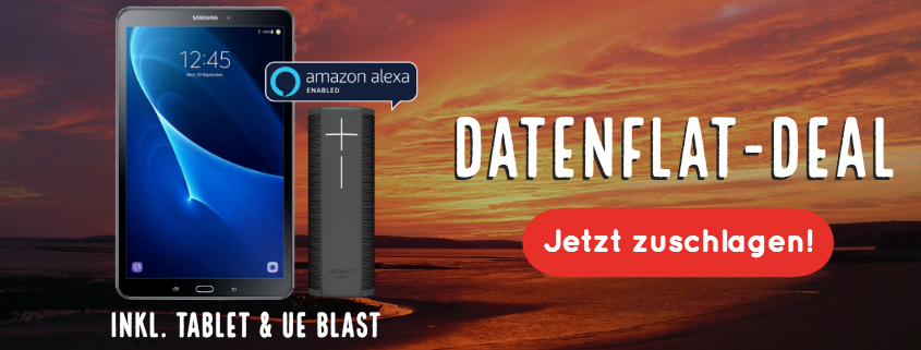 Daten-Deal! Tablet + UE Blast + 5 GB LTE Internet Flat