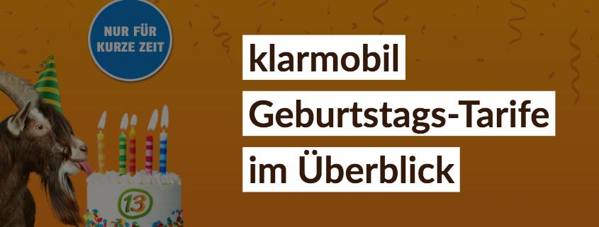 klarmobil feiert Geburtstag: LTE im Telekom-Netz ab 13 Euro
