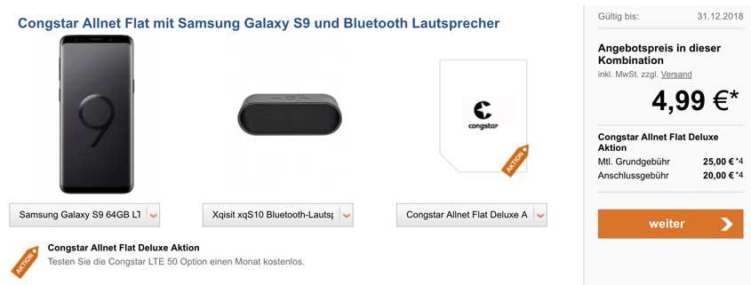 Samsung Galaxy S9 inkl. congstar Allnet Flat