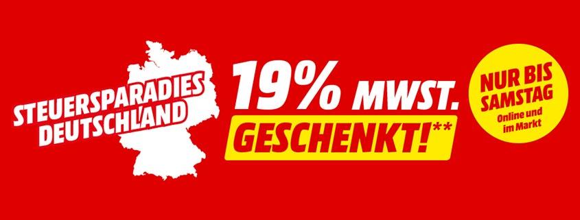 Media Markt / SATURN: 19% Mehrwertsteuer geschenkt – nur bis Samstag
