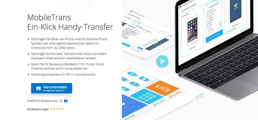 Mobile Trans - Umzug von iOS zu Android