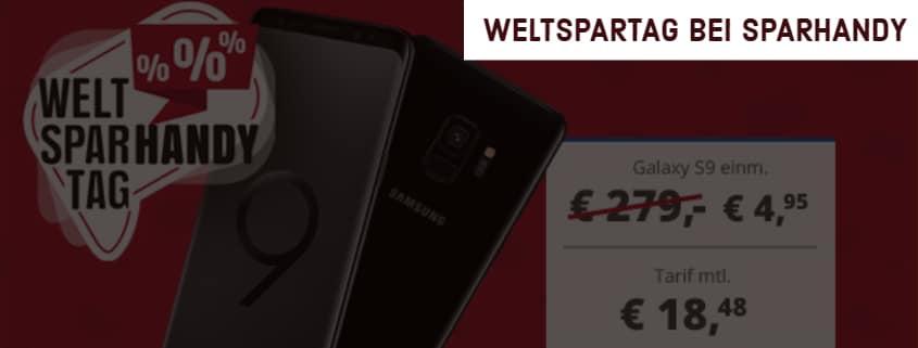 Sparhandy Weltspartag mit Samsung Galaxy S9