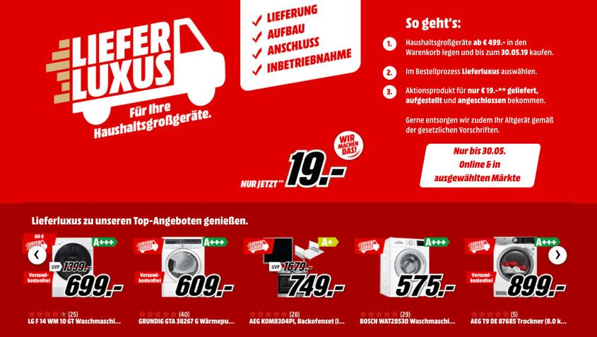 Media Markt Liefer Luxus für 19 €