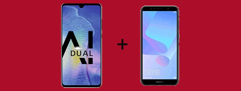 Huawei Mate 20 + Huawei Y6 & Allnet Flat für 26,99 €/mtl.