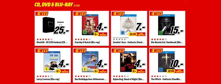 Media Markt WSV CD, DVD, Blue Ray