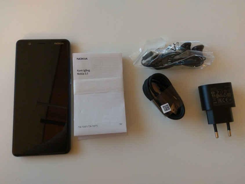 Nokia 5.1 Lieferumfang