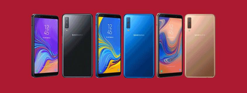 Samsung Galaxy A7 + 3 GB Allnet Flat für 14,99 €/mtl.