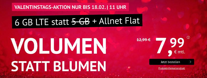 handyvertrag.de 6 GB LTE Allnet Flat für nur 7,99 €/mtl.