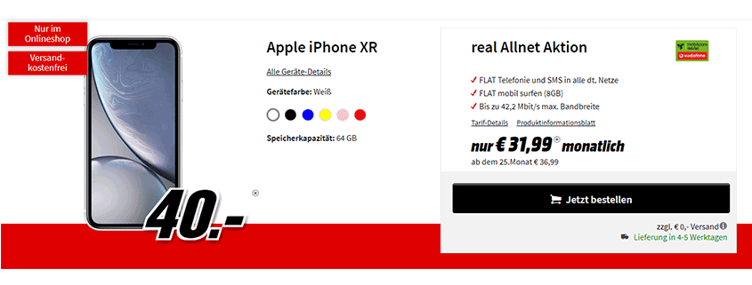 Media Markt iPhone XR
