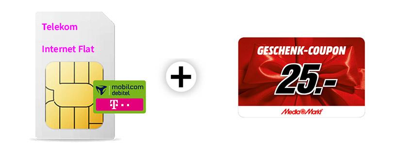 10 GB Telekom Internet-Flat inkl. 25 €Gutschein