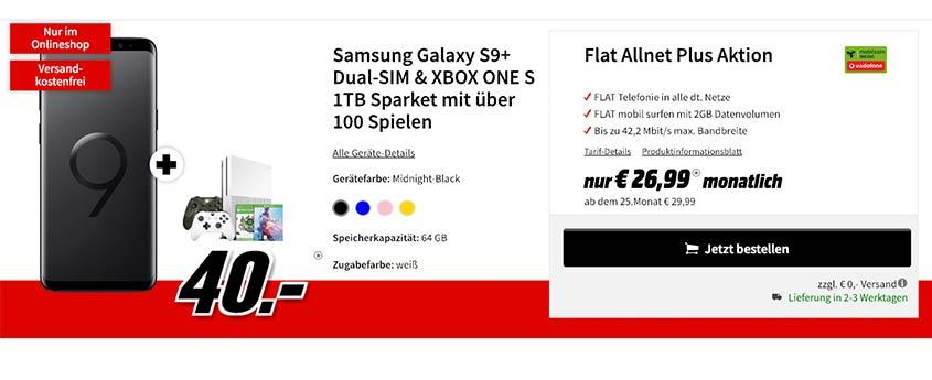 Galaxy S9 Plus + Xbox Sparket zum Sparpreis