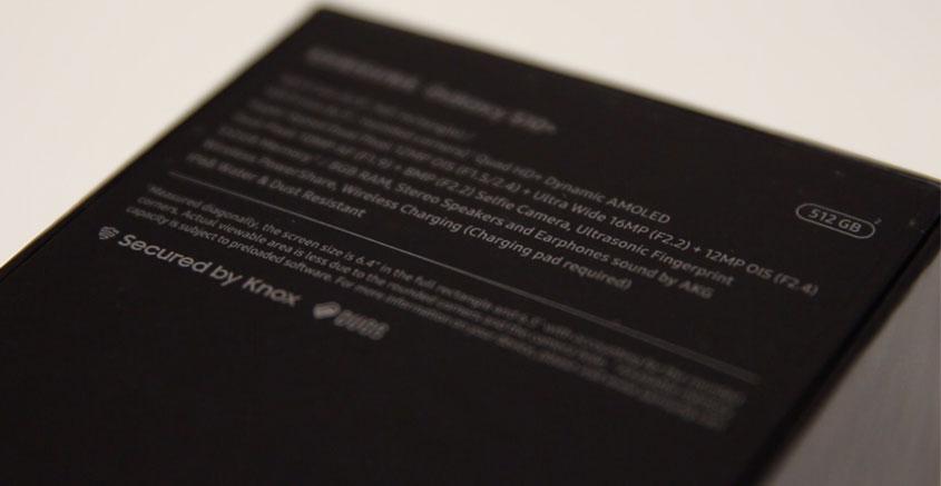 Samsung Galaxy S10+ - Verpackung