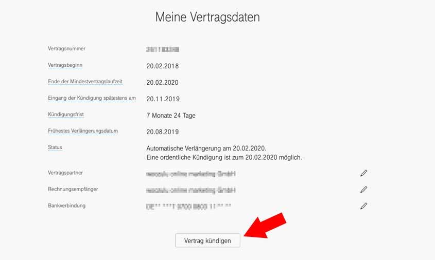 Telekom online kündigen rufnummernmitnahme